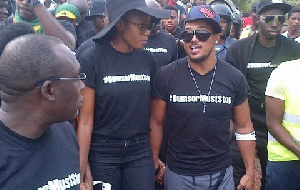 Yvonne Nelson leading 'dumsor must stop' demonstration