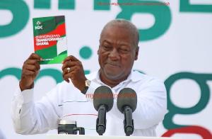 Former president of Ghana, John Dramani Mahama outdooring his party manifesto