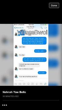 Screenshot conversation between Shatta and Criss Waddle