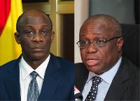 Finance Minister Seth Terkper and Bank of Ghana Governor, Henry Kofi Wampah in enhanced photo