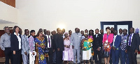 A group photo of participants at the Ghana Manufacturers Business summit