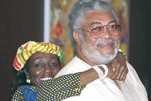 Former President Jerry John Rawlings and Wife, Nana Konadu Agyemang Rawlings