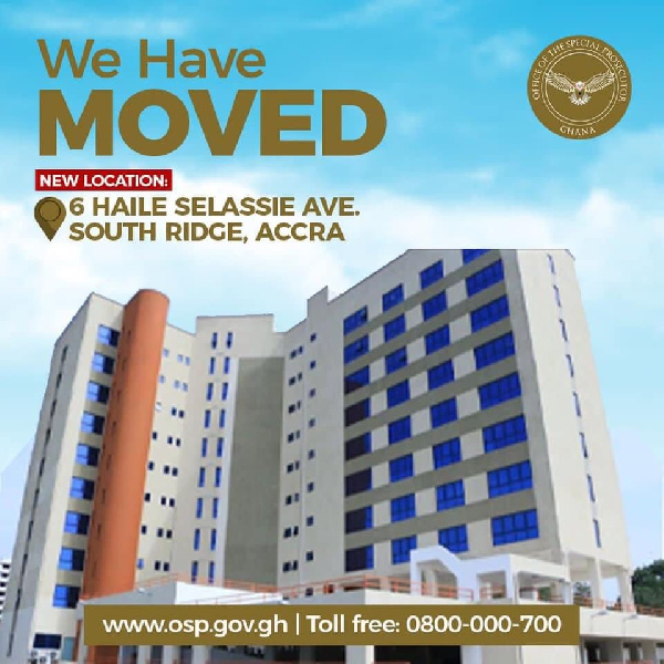 Photo of Special Prosecutor gets 10-storey edifice as new office | GhanaWeb