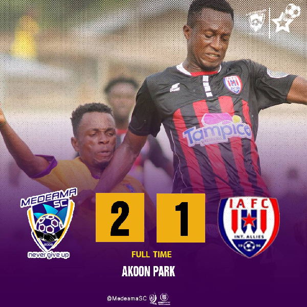 2020/21 GPL: Brace hero Abass Mohammed named MOTM as Medeama pip Inter Allies