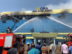 The fire raged through the VAT offices of Ghana Revenue Authority