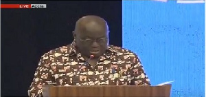 President Akufo-Addo addressing the gathering at the event