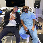 Chelsea star Hakim Ziyech links up with King Promise in the studio
