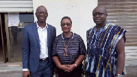 Gloria Commodore (middle) with some officials of the NSA