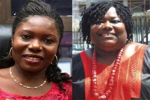 Rachel Appoh, Former MP for Gomoa Central (L) and Nana Oye Lithur (R)