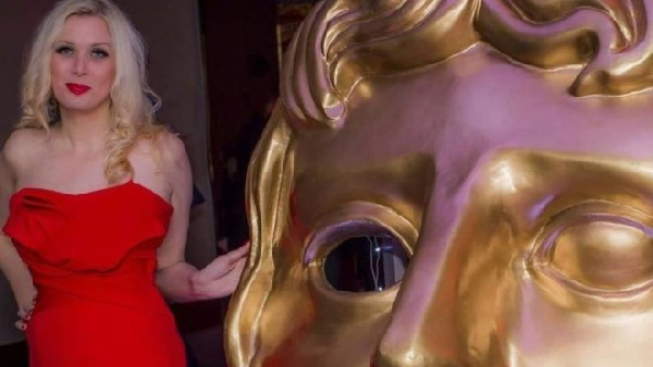 Shirley Hellyar  pictured at the Baftas in 2017 had a part in the Netflix film Outlaw King