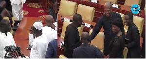 Members of the Majority clad in white while their counterparts wore black outfits