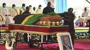 Magufuli will be buried on March 25 but his body will remain here in the church until March 21