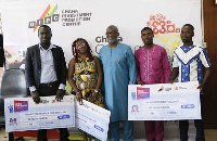 Mr Yoofi Grant (middle) with the award winners