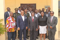 Officials of NLA and VAG  in a group photo after the meeting