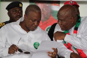 Mahama with NDC National Chairman Kofi Portuphy