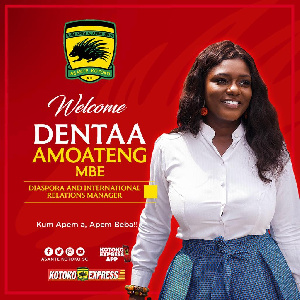 The Diasporan and International Relations Manager of Asante Kotoko, Akosua Dentaa Amoateng MBE