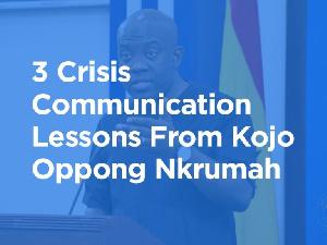 Kojo Oppong Nkrumah is Ghana's Information Minister