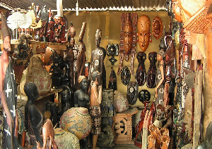 Many Ghanaians believe that artifacts such as these contain evil spirits so they do not patronise it