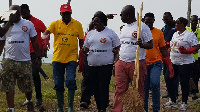 officials of the Ghana Tourism Authority embarked on clean up exercise in Elmina