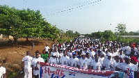 A section of the crowd during the Health Walk
