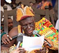 Awulea Attribrukusu III, Paramount Chief of Lower Axim in the Nzema East Municipality