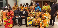 MP for Effiduase-Asokore constituency, Dr. Nana Ayew Afriyie with some dignitaries