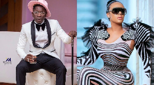 Dancehall musician, Shatta Wale and Haillie Sumey