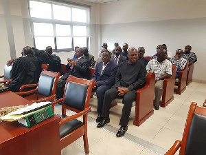 Former president Mahama was in court to support Mr Ampofo