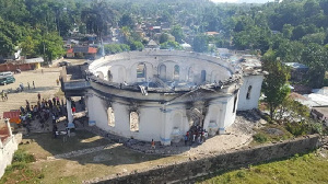 File photo of the Royal Chapel of Milot which got burnt