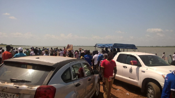 The NPP campaign team left stranded at the bank of Dambai river.