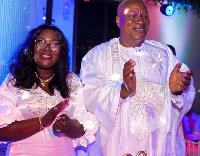 Prof Joshua Alabi and wife Prof Goski Alabi