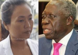 Senior Minister, Yaw Osafo Maafo and Aisha Huang