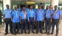 Mr Prosper Bani (3rd from Right) with other scout members