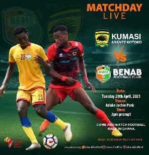 Asante Kotoko will be playing Benab FC in a friendly match