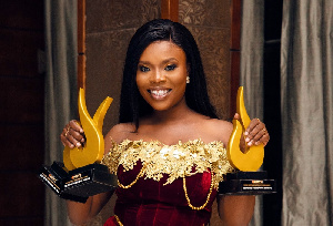 Deloris Frimpong Manso alias Delay with her awards
