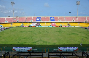 An aerial shot of the Accra Sports Stadium