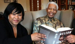 Zindzi Mandela with her father Nelson in 2010