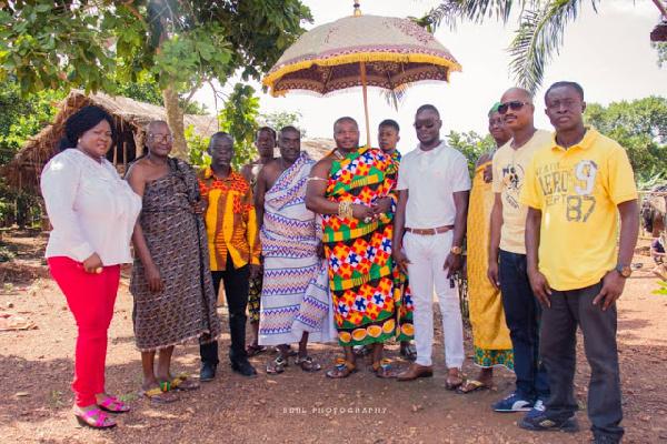 Mercy Asiedu, Nana Agyeman Badu Dua I and others in a group photo