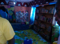 The library is stocked with current books and learning materials