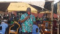 Mr Yere, mental health coordinator, insert school children