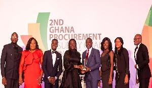 AirtelTigo team receiving an award
