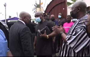 President Nana Addo Dankwa Akufo-Addo with Dr Bawumia and Prophet Victor Kusi Boateng