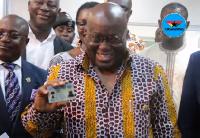 President Akufo-Addo got his Ghana Card in November, 2017