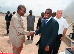 Former president, John Dramani Mahama and Late President Atta Mills