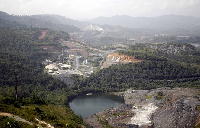 Aerial view of AngloGold mine