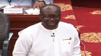 Mr Ofori-Atta presenting the 2018 budget