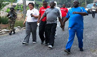 Former Ministers under NDC going for a walk (File photo)