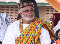 Former President Jerry John Rawlings installed peace Chief of Anlo