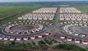 An aerial view of the Saglemi Housing estate