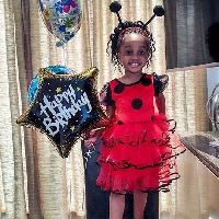 The cute daughter of Asamoah Gyan on her birthday